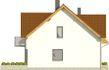 Projekt domu Riwiera - elewacja boczna 1