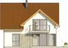 Projekt domu Riwiera - elewacja tylna
