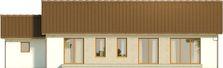 Projekt domu Nino - elewacja tylna