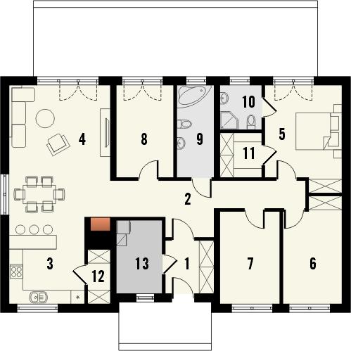 Projekt domu Nino 2 - rzut parteru