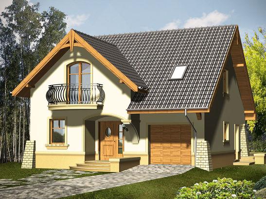 Projekt domu Bella - widok 1