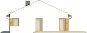 Projekt domu Velvet - elewacja boczna 1