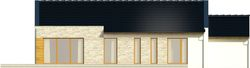 Projekt domu Velvet - elewacja tylna