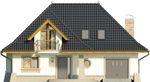 Projekt domu Alabaster - elewacja przednia