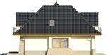 Projekt domu Alabaster - elewacja boczna 1