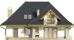Projekt domu Alabaster - elewacja tylna