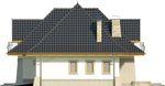 Projekt domu Alabaster - elewacja boczna 2