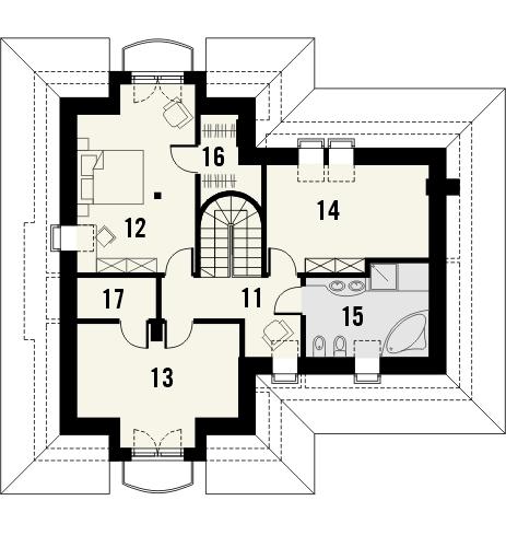 Projekt domu Alabaster - rzut poddasza