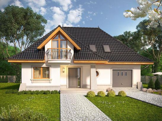 Projekt domu Alabaster - widok 1