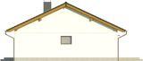 Projekt domu Karmelek - elewacja boczna 2