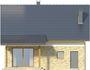 Projekt domu Majówka - elewacja tylna