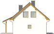 Projekt domu Majówka - elewacja boczna 2