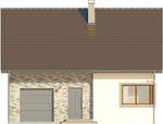 Projekt domu Borowik - elewacja przednia