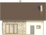 Projekt domu Borowik - elewacja tylna