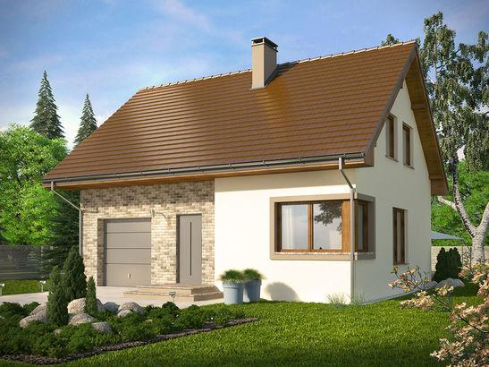 Projekt domu Borowik - widok 1