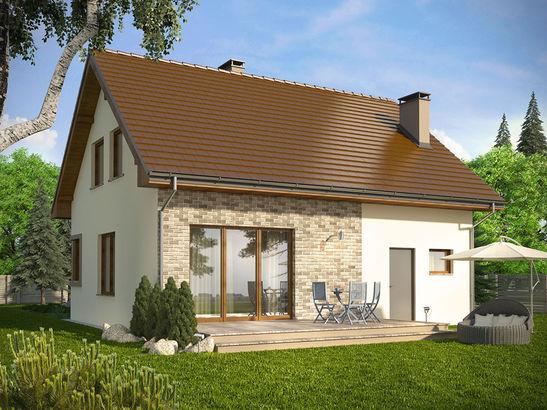 Projekt domu Borowik - widok 2