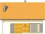 Projekt domu Alvin - elewacja tylna