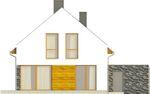 Projekt domu Avanti - elewacja tylna