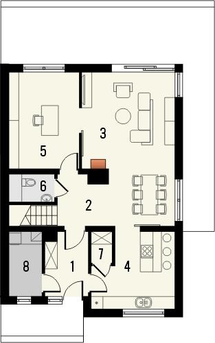 Projekt domu Avanti 2 - rzut parteru