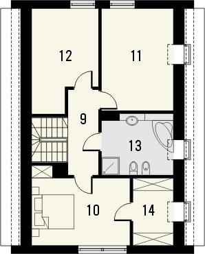 Projekt domu Avanti 2 - rzut poddasza