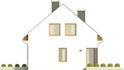 Projekt domu Como - elewacja boczna 1