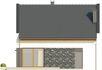 Projekt domu Como - elewacja tylna