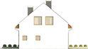 Projekt domu Como - elewacja boczna 2