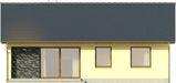 Projekt domu Cytrynka - elewacja tylna