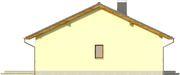 Projekt domu Cytrynka - elewacja boczna 2