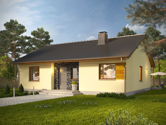 Projekt domu Cytrynka - widok 1