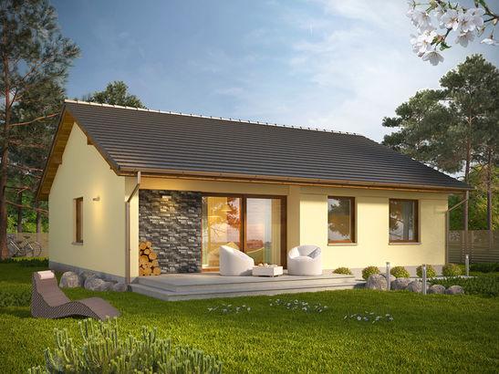 Projekt domu Cytrynka - widok 2