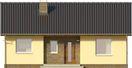 Projekt domu Kremówka - elewacja przednia