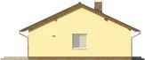 Projekt domu Kremówka - elewacja boczna 1