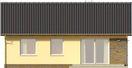 Projekt domu Kremówka - elewacja tylna