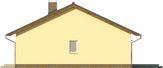 Projekt domu Kremówka - elewacja boczna 2