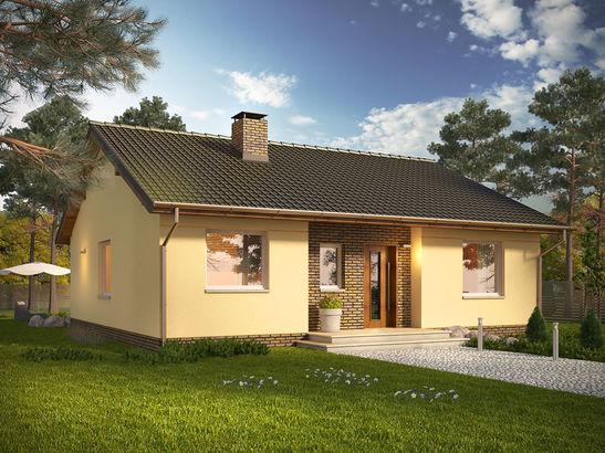 Projekt domu Kremówka - widok 1