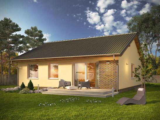 Projekt domu Kremówka - widok 2