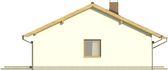 Projekt domu Kozłówka - elewacja boczna 1