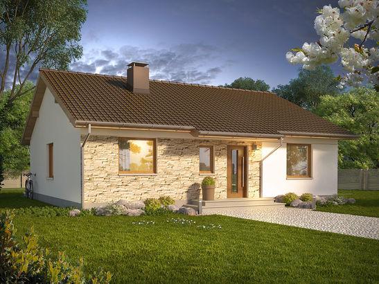 Projekt domu Kozłówka - widok 2