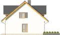 Projekt domu Miętus - elewacja boczna 1