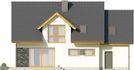 Projekt domu Miętus - elewacja tylna