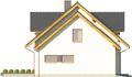 Projekt domu Miętus - elewacja boczna 2