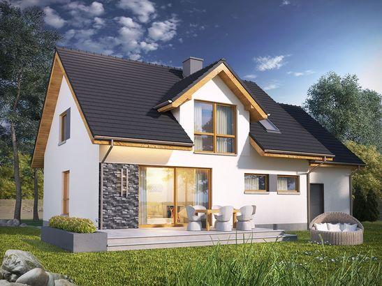 Projekt domu Miętus - widok 2