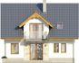Projekt domu Kolia 3 - elewacja tylna