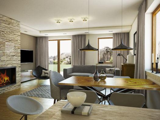 Projekt domu Kolia 3 - Widok salonu domu Kolia 3