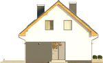 Projekt domu Bonus - elewacja boczna 1