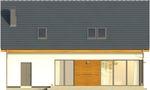 Projekt domu Bonus - elewacja tylna