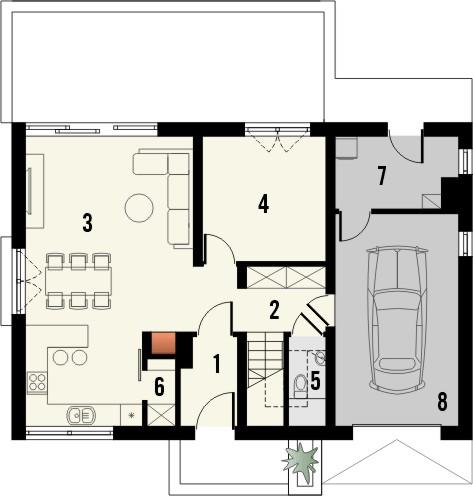 Projekt domu Bonus - rzut parteru