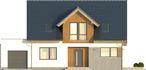 Projekt domu Fikus - elewacja przednia