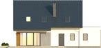 Projekt domu Fikus - elewacja tylna